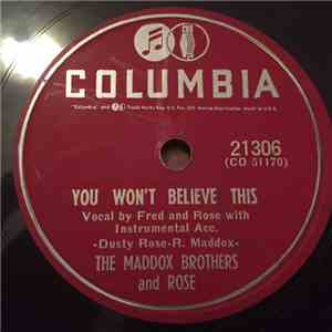 Maddox Brothers and Rose - You Won't Believe This / Forever Yours download flac